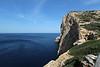 Habitat of Limonium dragonerium and Micromeria filiformis, Limestone rocks near Cap Llebeitx, Island, Parc Naturel de sa Dragonera