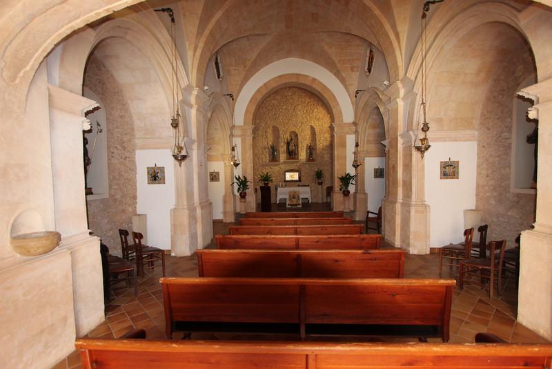 Monastery= Santuaria de Nostra Saintyora de Cura, Puig de Randa 542m, NE of Llucmajor