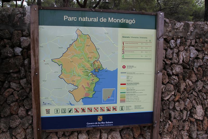 Map of Parque Natural Mondragó