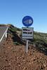 Sign near the International observatories, near Roques de los Muchachas, 2400m, Parque Nacional de la Caldera de Taburiente