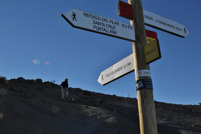 Pico de la Nieve, 2239m, GR131, East caldera, Parque Nacional de la Caldera de Taburiente