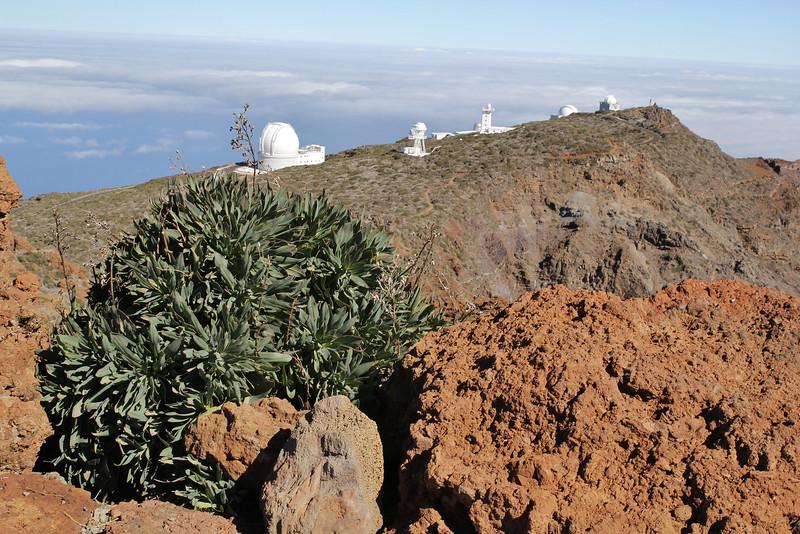 International observatories, near Roques de los Muchachas, 2400m, Parque Nacional de la Caldera de Taburiente