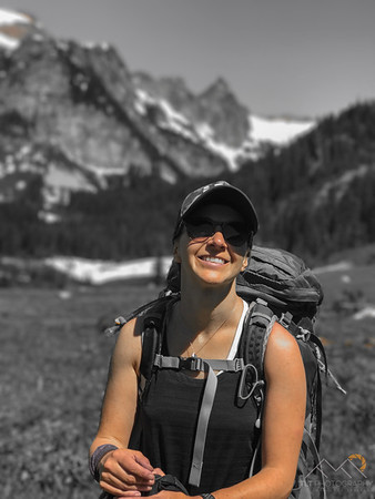 Emily in Spider Meadows - Glacier Peak Wilderness