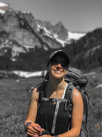 Emily in Spider Meadows - Glacier Peak Wilderness