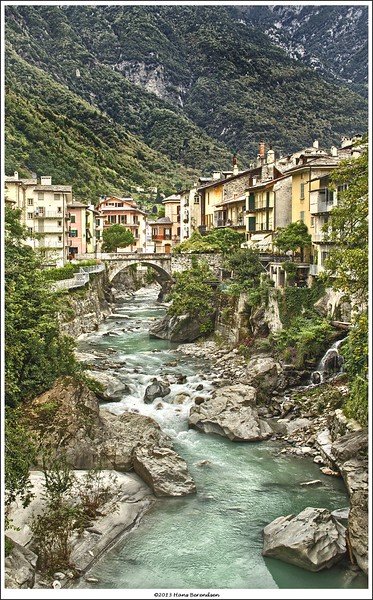 A view on Chiavenna in the north of Italy