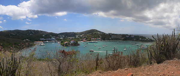 The view over Cruz Bay from Lind Point