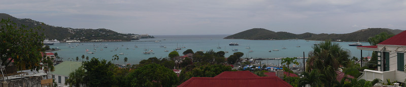 This is the view over Charlotte Amalie from Black Beard's Castle.