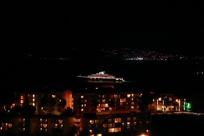 This is a large casino yacht as viewed from our balcony over the nearby Wyndham resort at Sugar Bay.