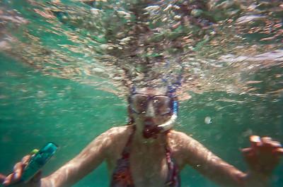 Julia snorkelling