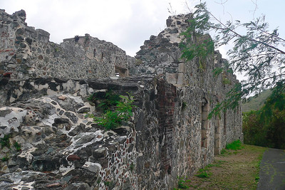 The Annaberg sugar mill and rum distillery ruins