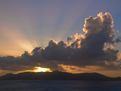 A sunrise over St. John