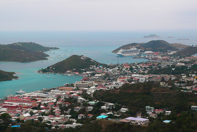 A view of the city of Charlotte Amalie