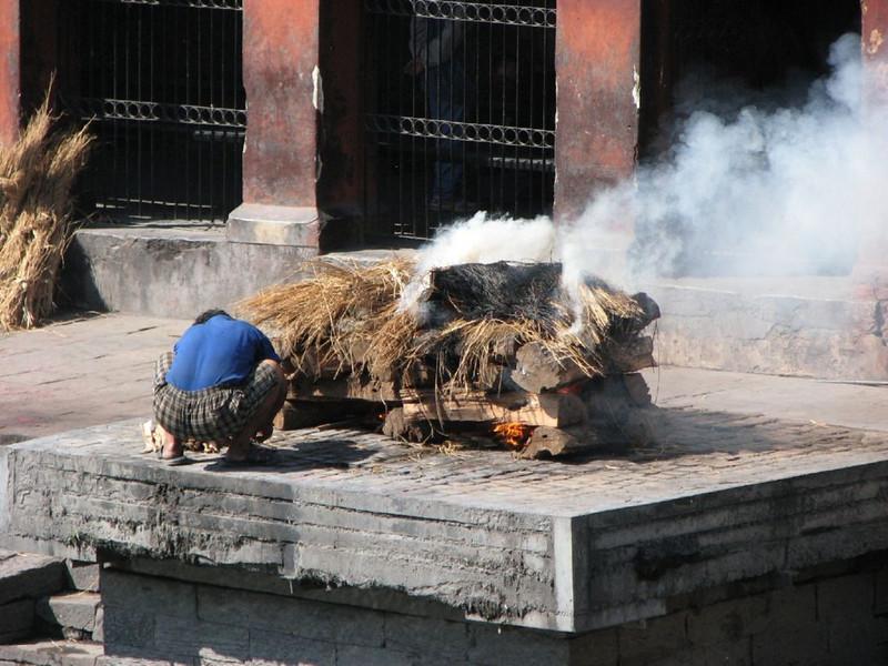 corpse cremation (Kathmandu)