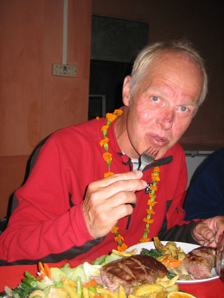 Diner after 8 kg. lost bodyweight (Kathmandu)