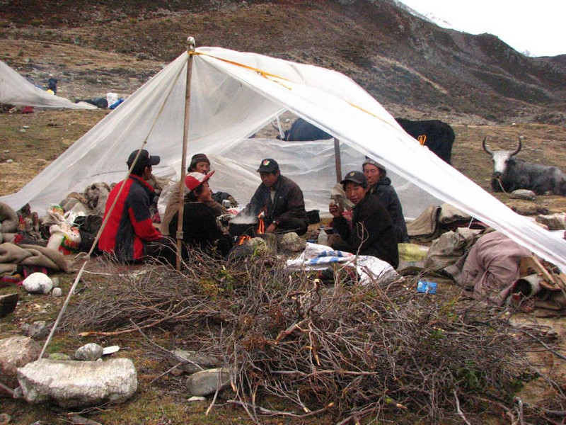 9/10 okt.  Kamp 2  Shao-La base camp  4253m.