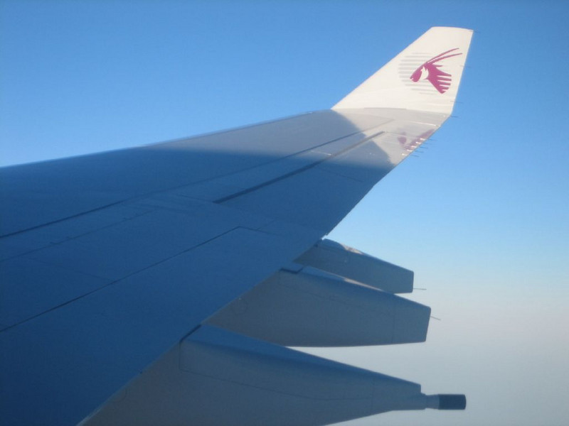 Flight with Qatar Airlines 29/30 Sep.2006 (London - Doha - Katmandu)