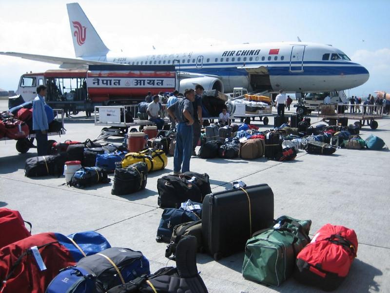 flight Kathmandu - Lhasa (Nepal, 1317m. - Tibet 3652m.)