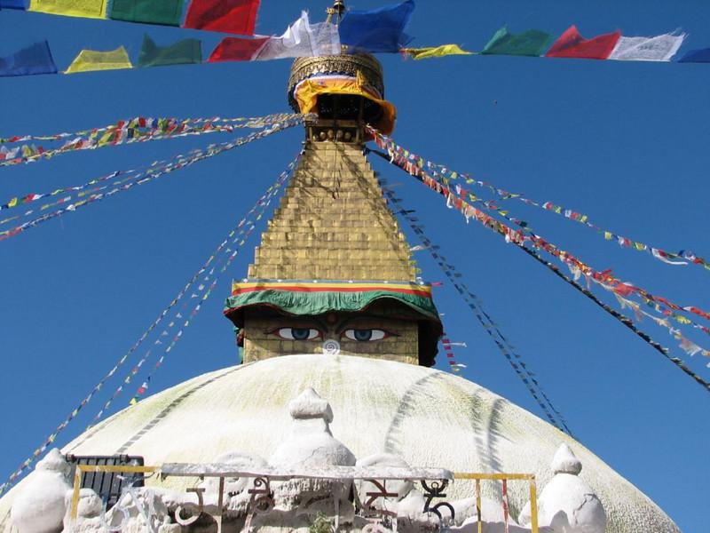 the big stupa of Bouddhanath (Kathmandu)