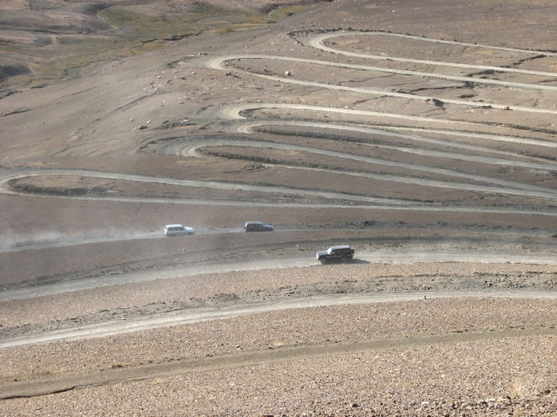 Tibetan plateau (pass road Pang-La   5254m)