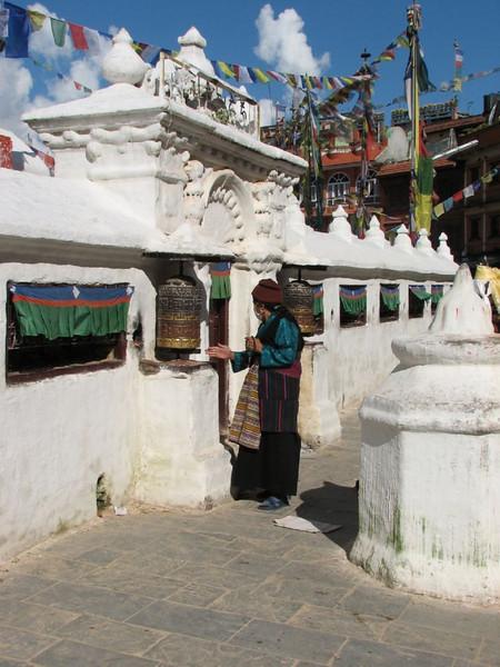 prayer wheel, Bouddhanath (Kathmandu)