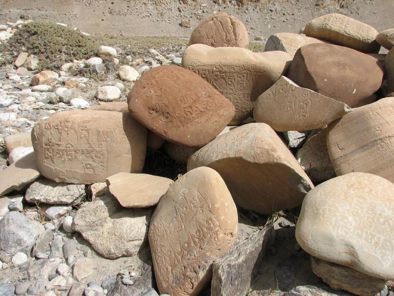 prayer stones (Kharta 3710m.)