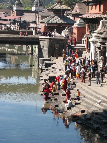 the holy Bagmati river with the Pashupati-nath temple (Kathmandu)