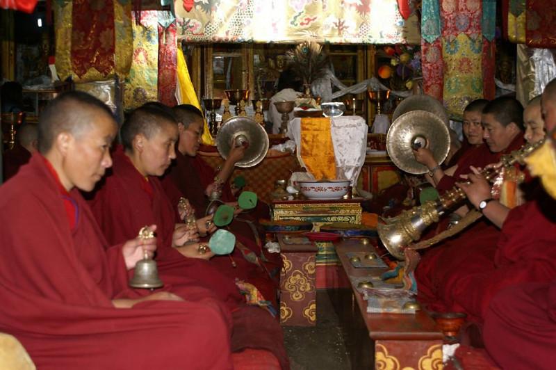 music making monks (Potala Palace)