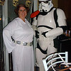 Tracy and Brian, as Leia and a Stormtrooper.