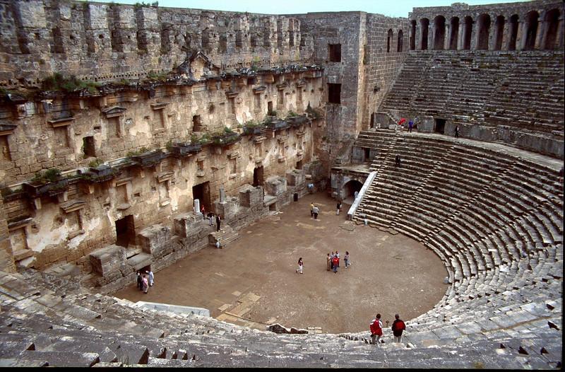 archeological site, Aspendos arena