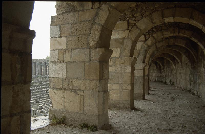 acient arches (archeological site, Aspendos arena)