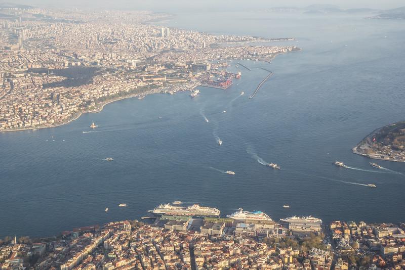 Bosporus, border Europe and Asia