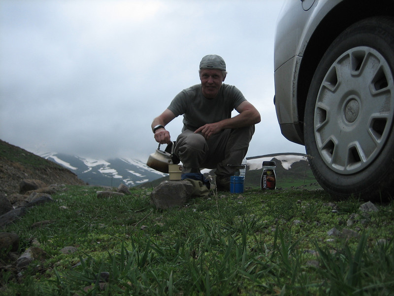 Break, coffee time (South of Erzurum)