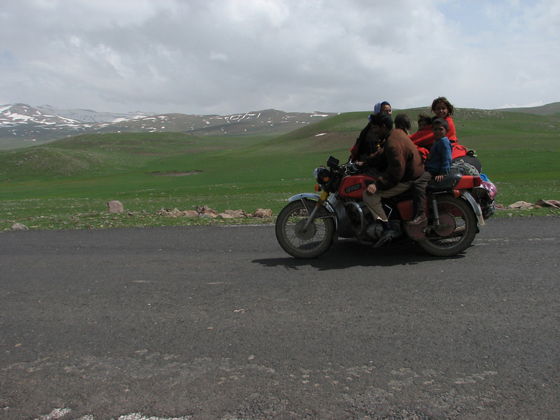 family transport with the bike (North East Turkey spring 2007)