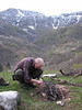 Kristian makes a campfire (North East Turkey spring 2007)