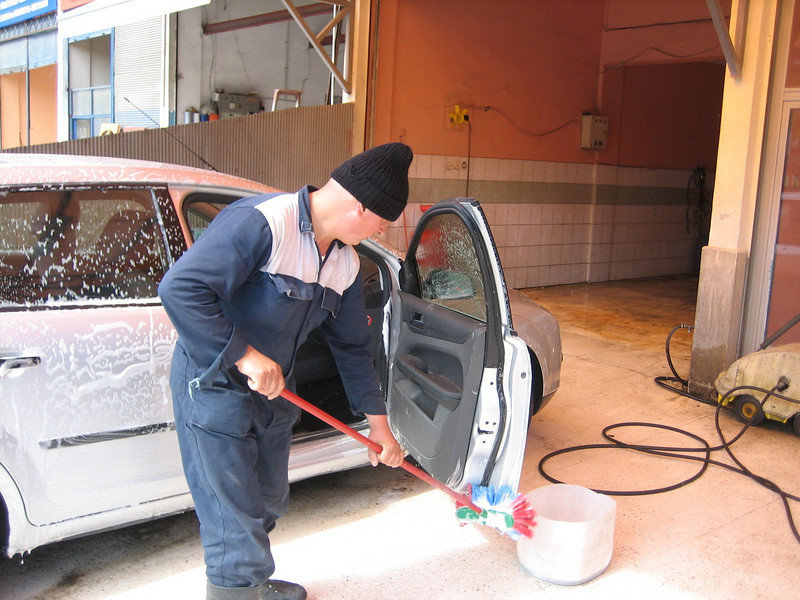 Car cleaning after survival (North East Turkey spring 2007)