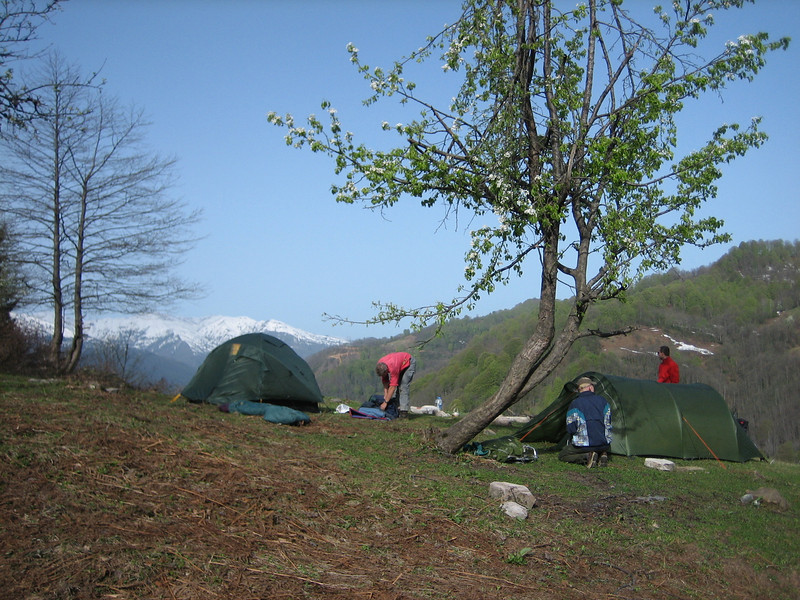 campground near Murgul (North East Turkey spring 2007)