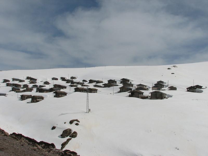 village in the snow near Savsat (Ardahan area)
