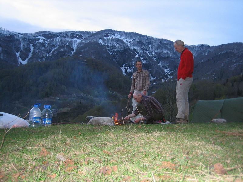 campground near Murgul (North East Turkey spring 2007)