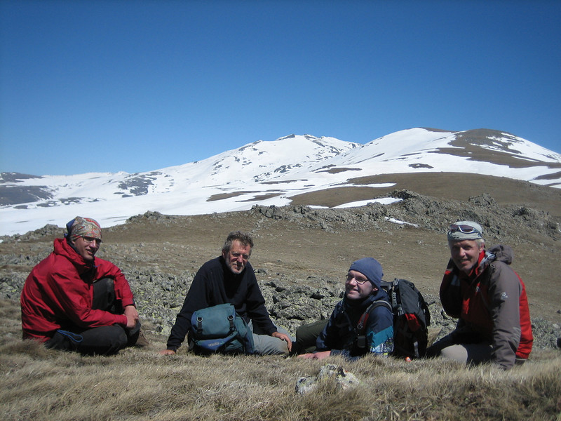 Kees Jan,Sicco, Kristian and Marijn (Kopdagi Gecidi pass 2390m South of Bayburt)