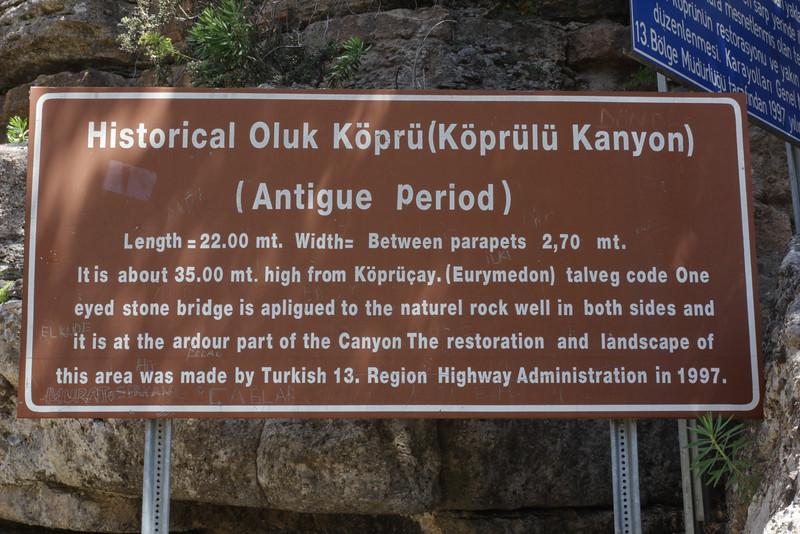 Sign at a old bridge