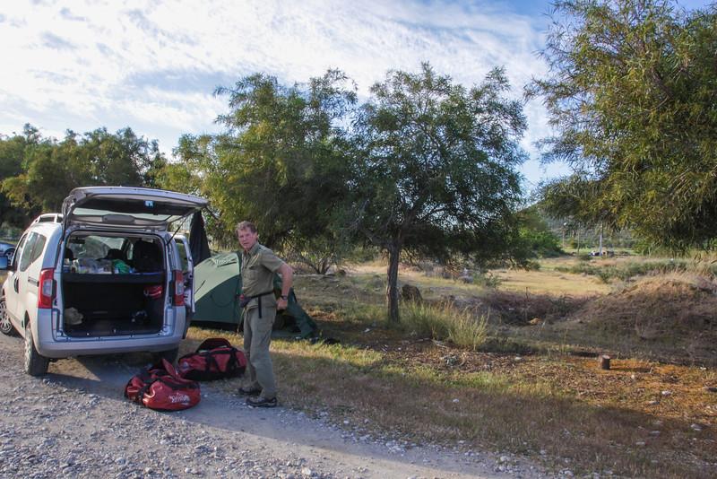 Camp near coast Gazipasa,