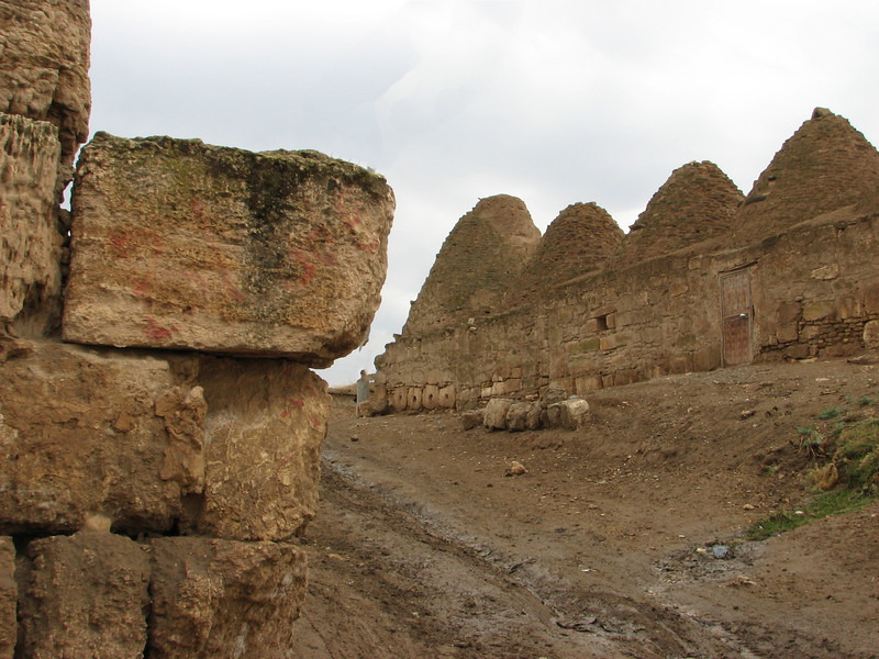 The old town of Harran. Partly built with stones from the archaeological site, S.E. of Sanliurfa near the border of Syria