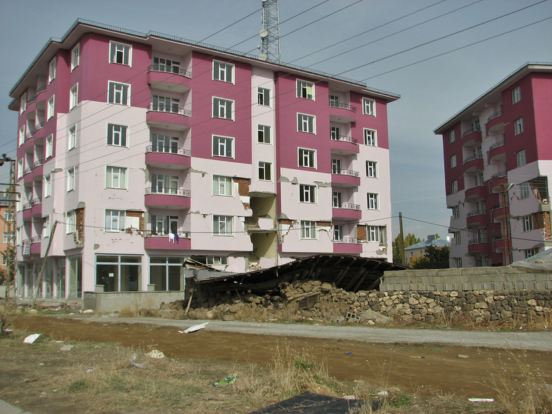 The city Ercis, meet with the earthquake of October 22th 2011