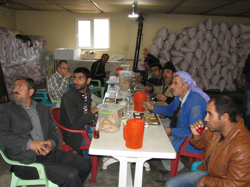 Diner with employees of a quarry, South of Diyarbakir