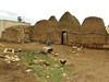 Traditional old houses of Harran, Partly built with stones from the archaeological site, S.E. of Sanliurfa