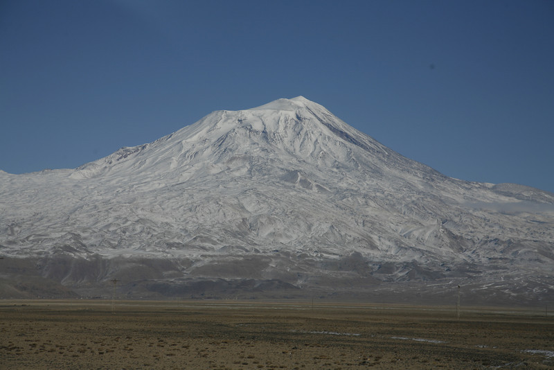 The volcano Ararat 5123m (Agri Dagi) is visible, Dogubayazit near the Iranian border (photo from internet)