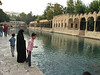 Feeding the carps, Sanliurfa, the great mosque. Birth place of Abraham