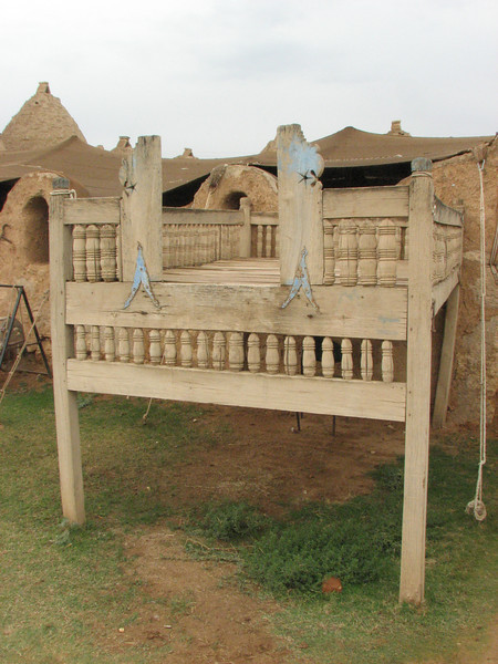 Outdoor summer bed, Traditional old houses of Harran, S.E. of Sanliurfa