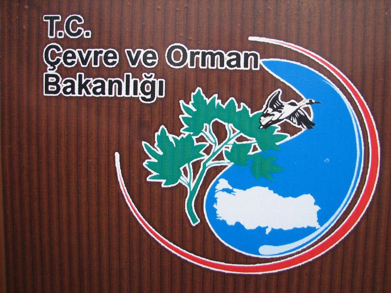 sign of the Nat. Parks (Southwestern Turkey)