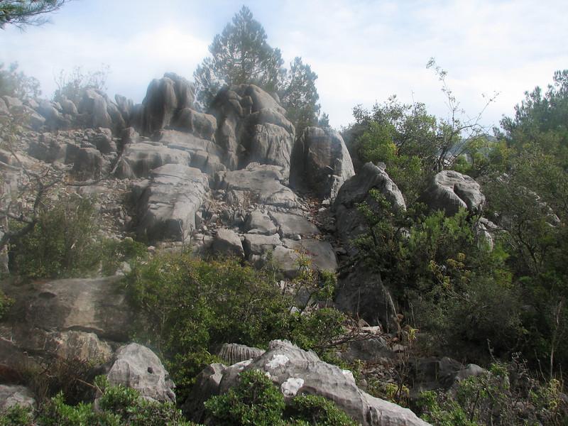 erosion pattern in limestone rocks (Akseki, Southwestern Turkey)